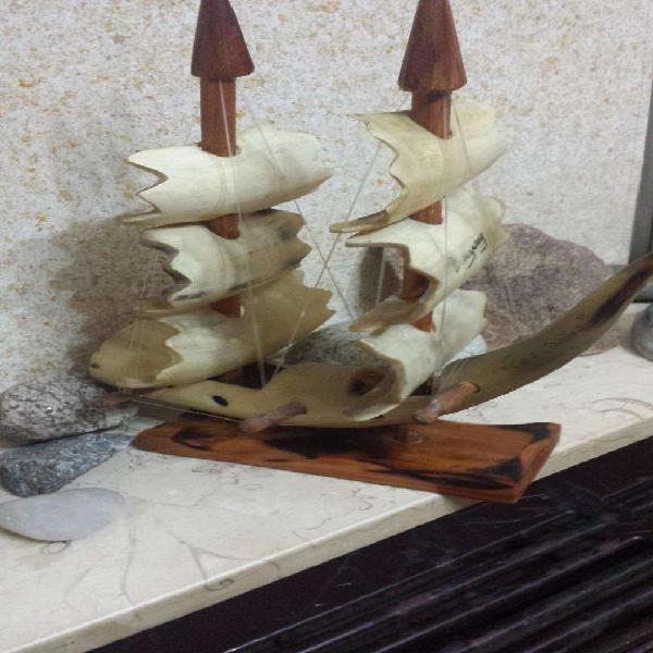 Barco hecho con cuernos de vaca (codigo 90)