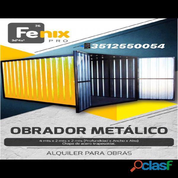 Fenix Alquiler de obradores / contenedores reforzados en cordoba capital