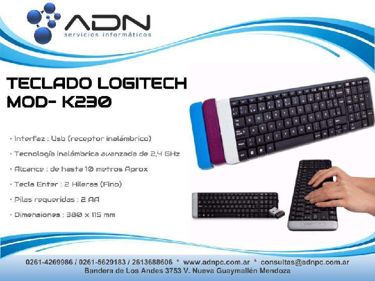 Teclado inalambrico compacto logitech k230