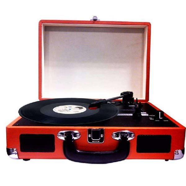 Tocadiscos Reproductor Portátil De Vinilos Vintage Ookly