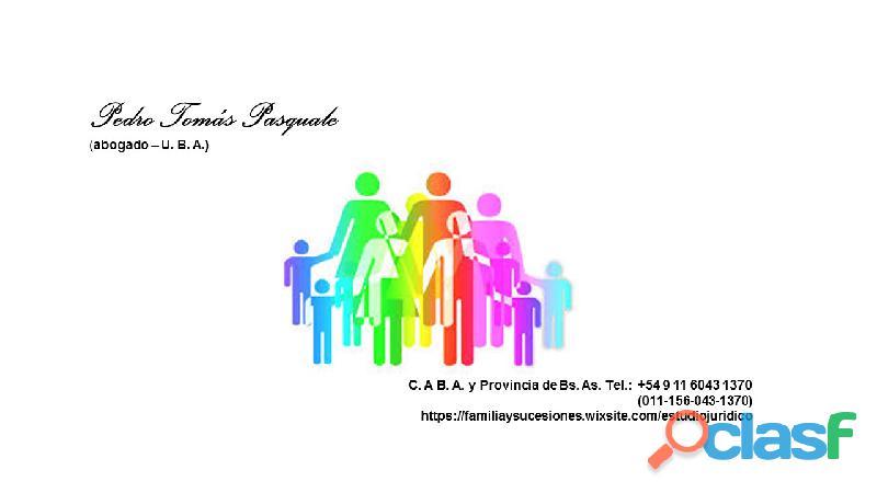 Asistencia juzgado de familia en provincia de buenos aires  divorcio  filiacion propuesta reguladora