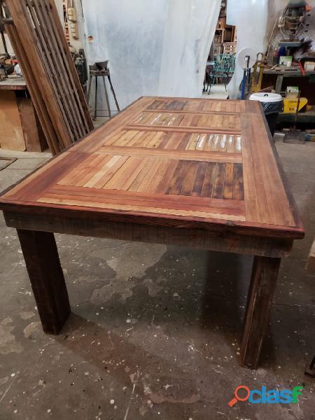 Mesa grande ideal quincho o galeria