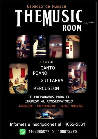 Clases de canto, guitarra, piano y bombo!!