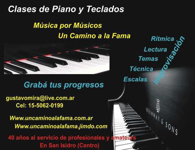 Clases de piano y otros en san isidro