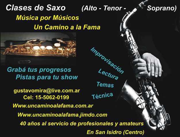 Clases de saxo en san isidro