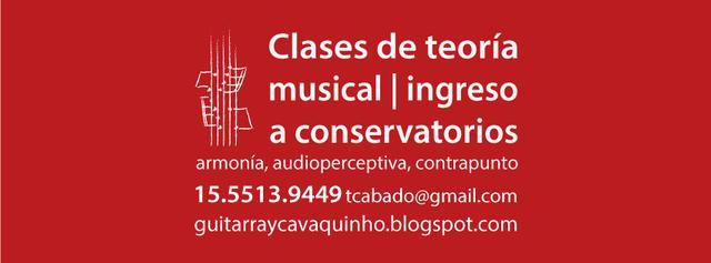Clases de audioperceptiva, armonía y contrapunto. ingreso a