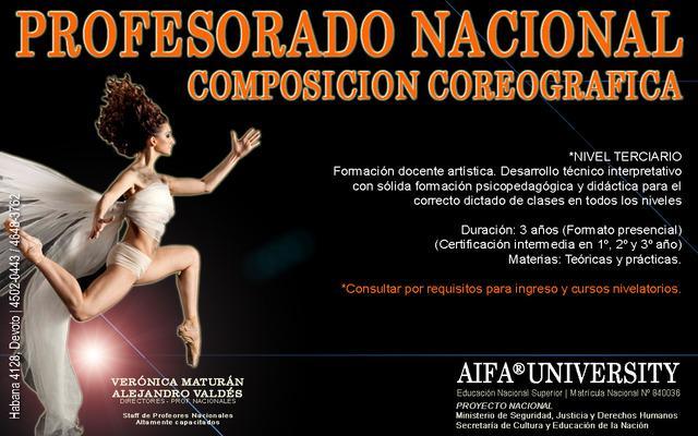 Danza profesorado nacional de composición coreográfica