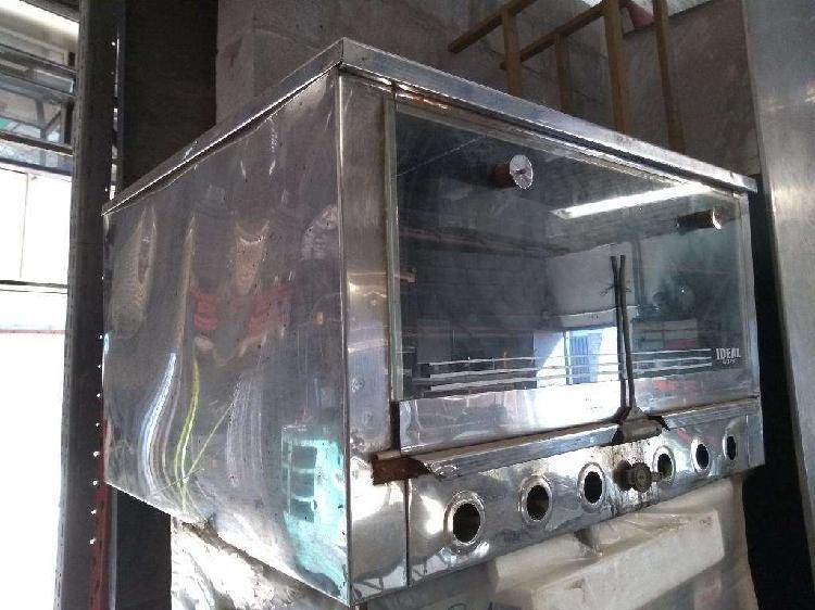 Horno 12 moldes tofo acero puerta vidrio