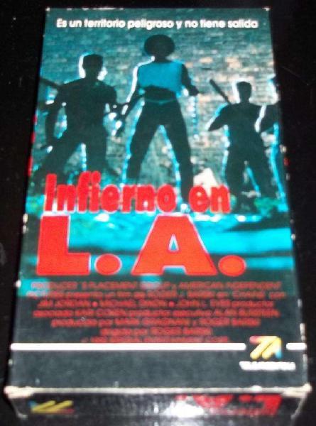 Infierno en l. a. película vhs p1992 acción !