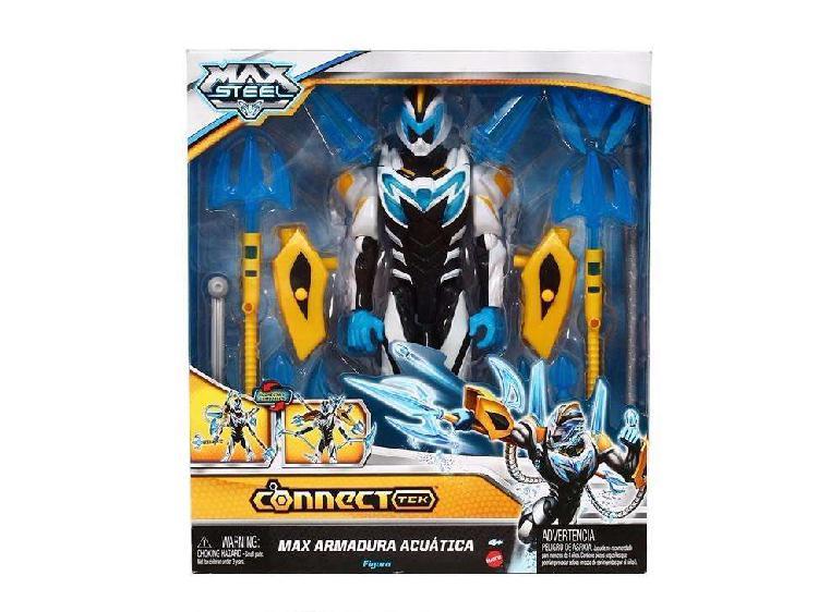Muñeco max steel armadura acuatica mattel figura de accion