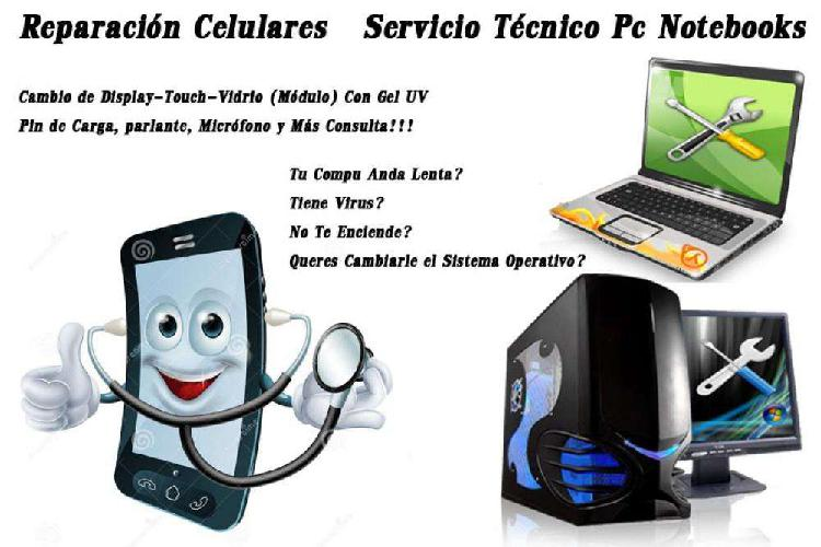 Servicio técnico lcp, reparacion de celulares pc, todo tipo