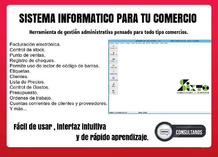 Software negocios control de stock, caja, ventas, gestión.