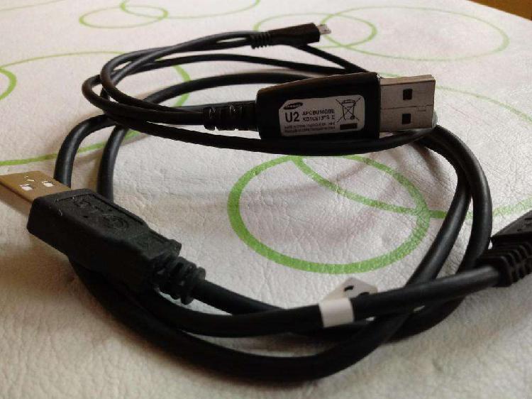 Cargadores, cables usb y auriculares para celulares