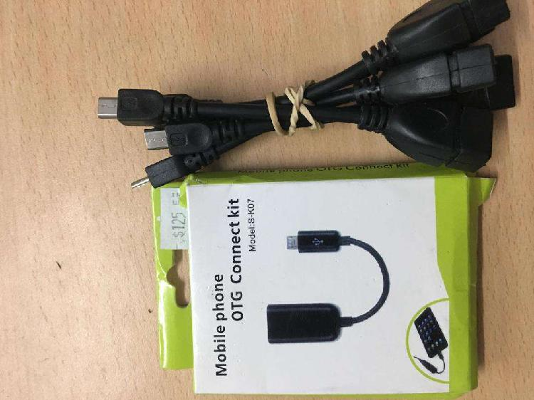 Cable adaptador otg micro mini usb samsung, motorola, tablet