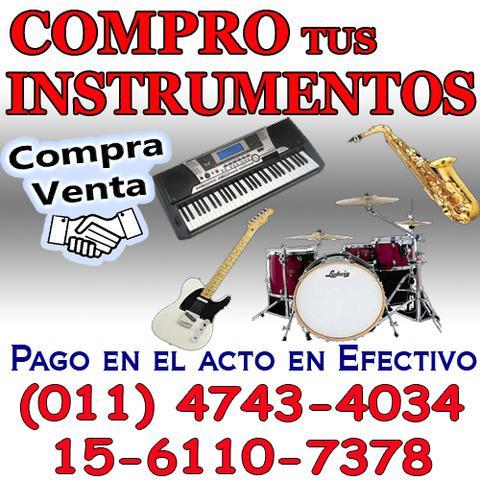 Compra y venta de instrumentos musicales en belgrano.