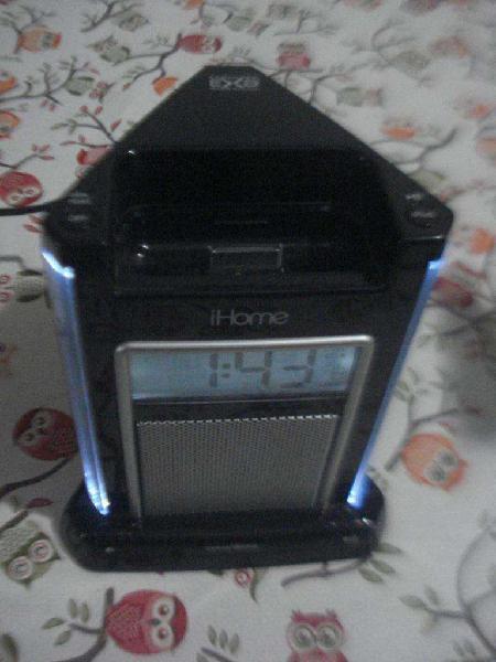 Dock radio despertador reloj ihome ih4b con entrada de audio