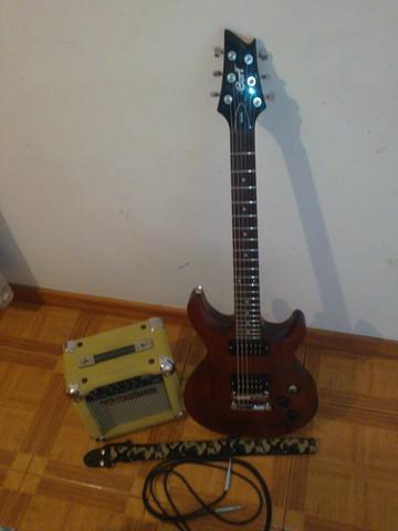 Guitarra electrica cort m200 + amplificador wenstone 10w