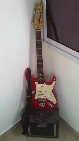 Vendo guitarra ibanez con amplificador
