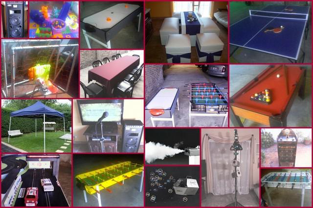 Alquiler de metegol, tejo, mini pool, ping pong