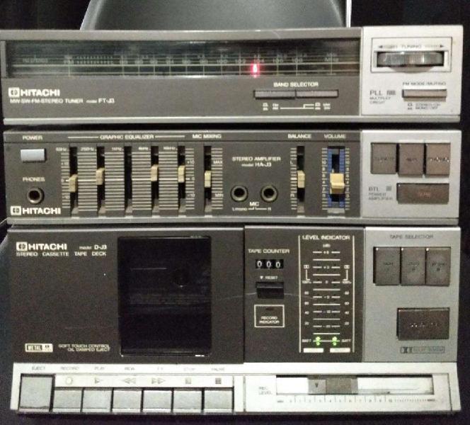 Amplificador hitachi j 3 hs j3 ft j3 vintage audio hi fi