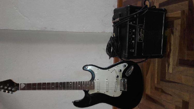 Guitarra elctrica amplificador cables funda