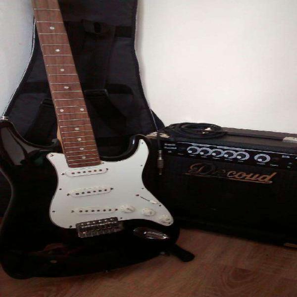Guitarra electrica memphis con estuche cable y amplificador