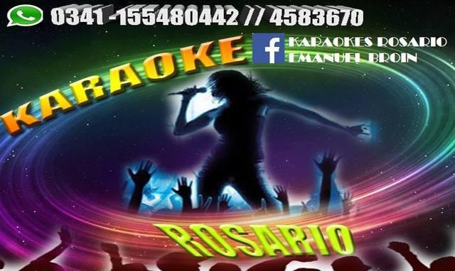 Karaoke rosario alquiler (dj sonido e iluminacion)
