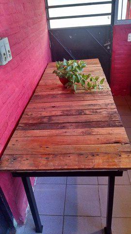 Mesa larga tipo para quincho rustica