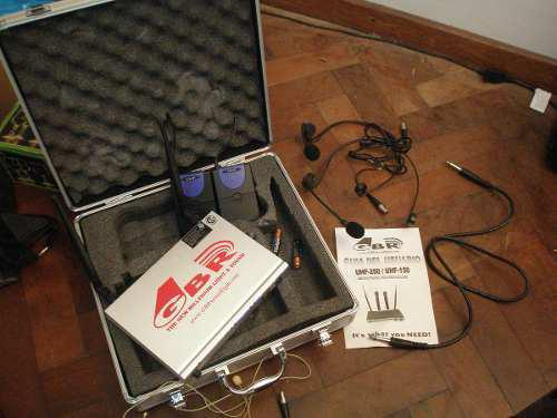 Microfono inalabrico gbr vincha doble uhf-250h