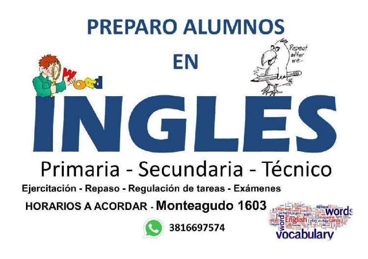 Inglés apoyo escolar clases particulares primaria