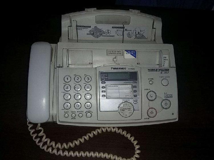 Se vende fax panasonic kxzaq333 color blanco que trabaja con