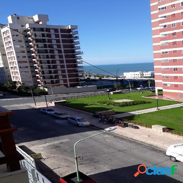Dto. 3 amb. vista lateral al mar en 4º piso - externo- c/ cochera y baulera - playa grande