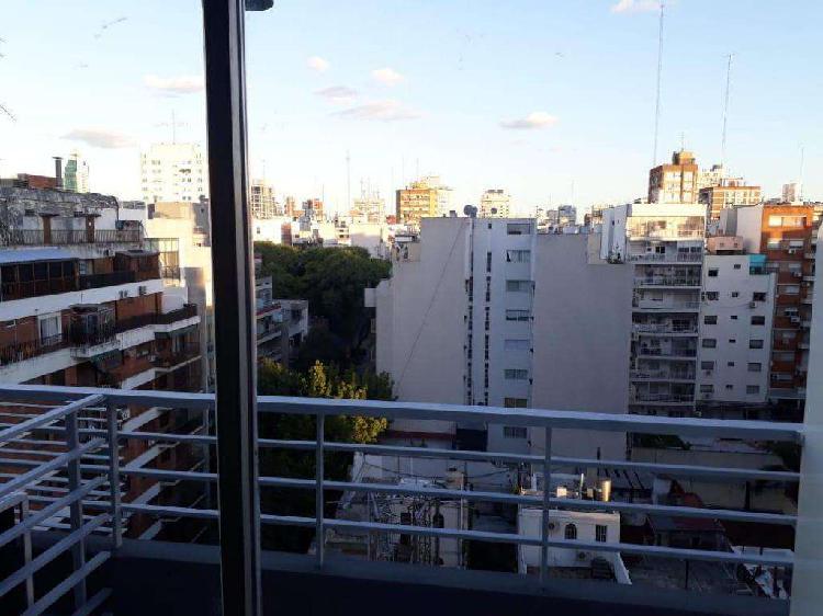 Alquilo temporario en belgrano, monoambiente c balcón, 2