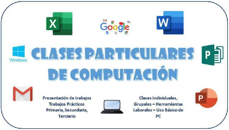 Clases particulares computación