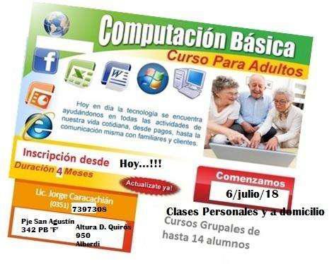 Clases de computación y celulares a adultos mayores