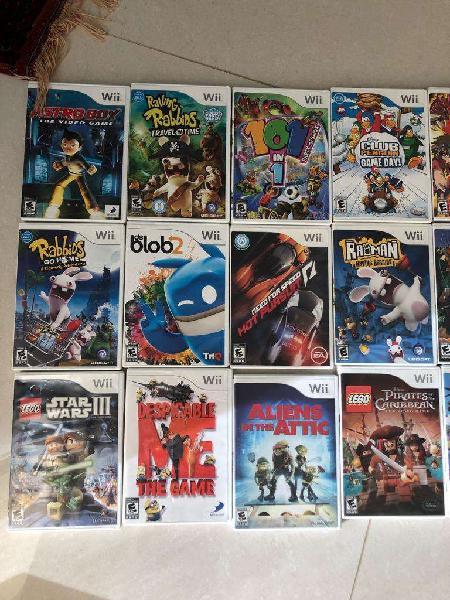 Juegos wii, xbox 360, xbox one y ps4