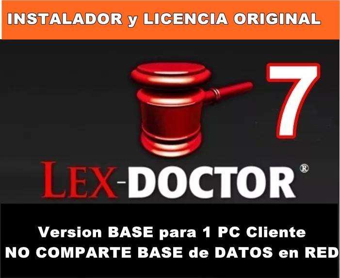 Lex doctor 7 base para una pc cliente comparte datos los