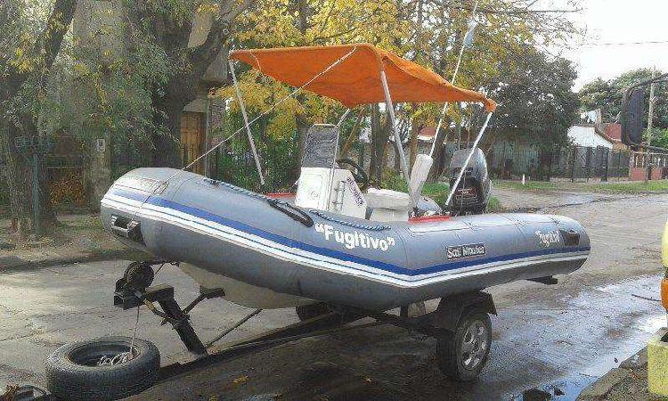 Semirrigido sail master con motor mercury 40 hp. y trailer
