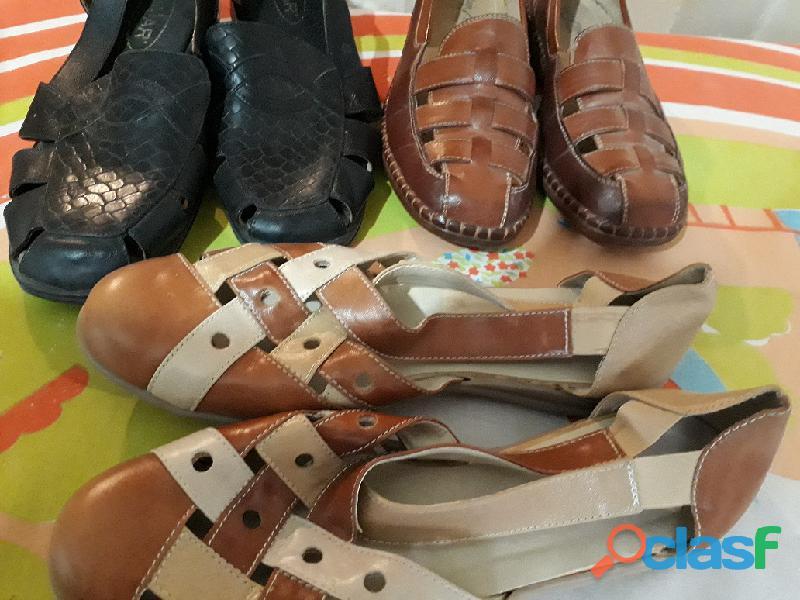 Zapatos taco bajo para dama