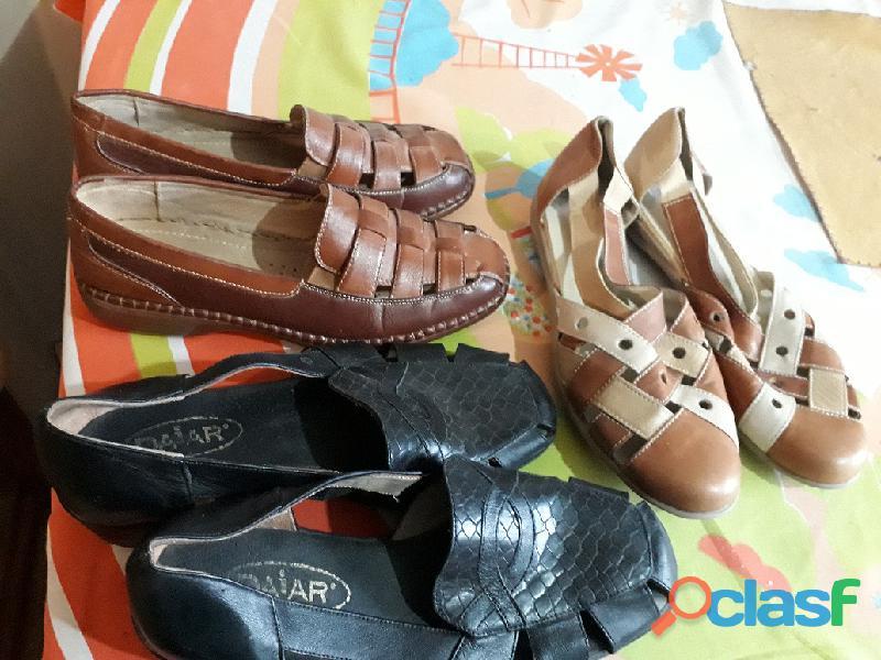 Zapatos taco bajo para dama 4