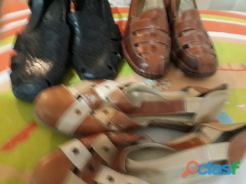 Zapatos taco bajo para dama 3