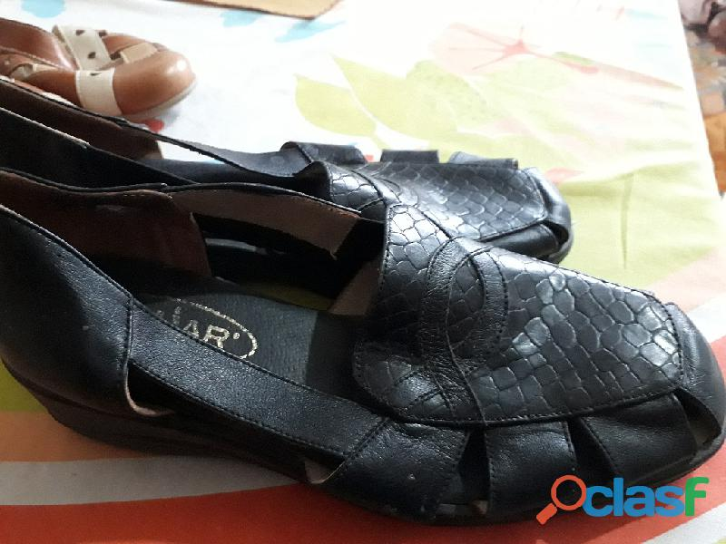 Zapatos taco bajo para dama 1