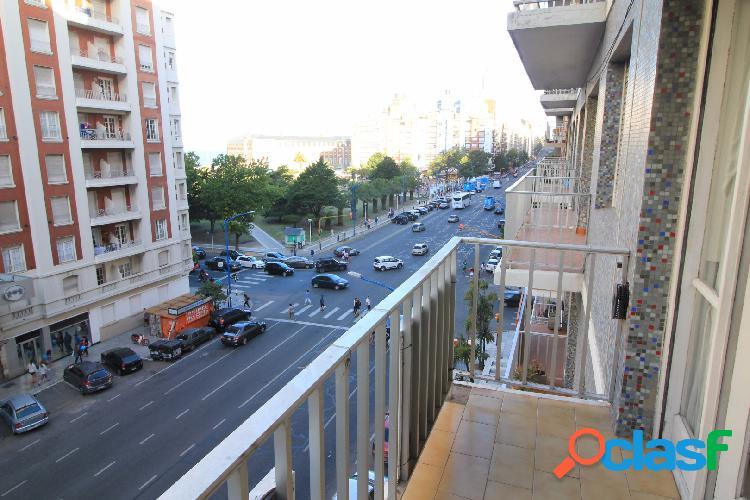Ficha 1015 alquiler mar del plata departamento de dos ambientes a la calle con vista a plaza colon