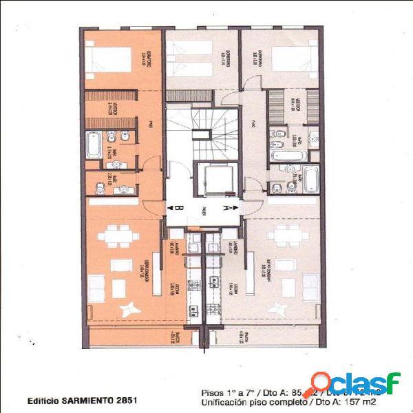 Venta de semipisos 3 ambientes a estrenar con cochera en barrio guemes