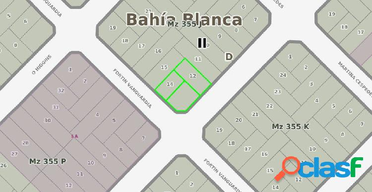 Mancisidor propiedades vende: en bloque - tres terrenos zona logistica / industrial.
