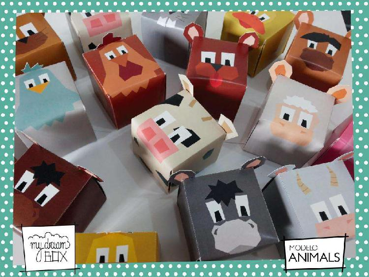 Animales caja zoo z1 personalizada ave pájaro golosinas