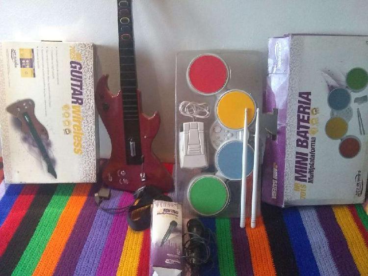 Guitarra bateria juegos play wii pc ps3