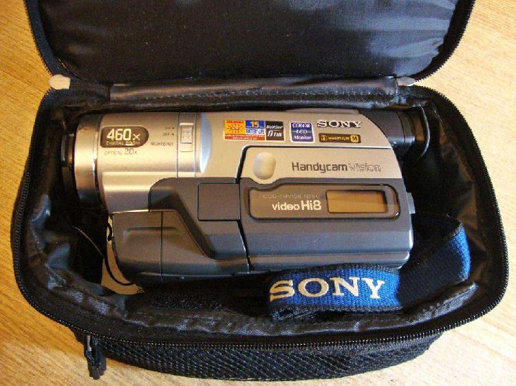 Videocámara sony handycam hi8 tvr108, con cargador, manual,