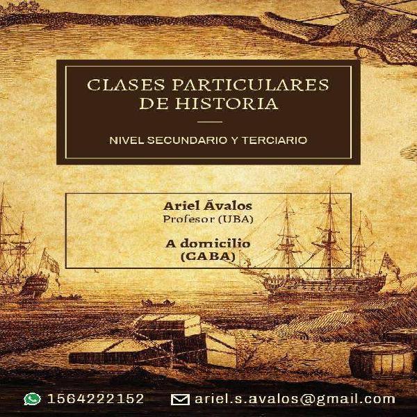 Clases de historia a domicilio (c.a.b.a)