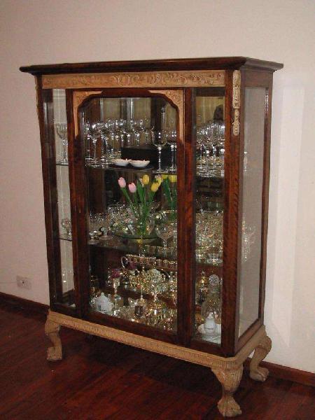 Cristalero vajillero vitrina estilo chipendale chippendale